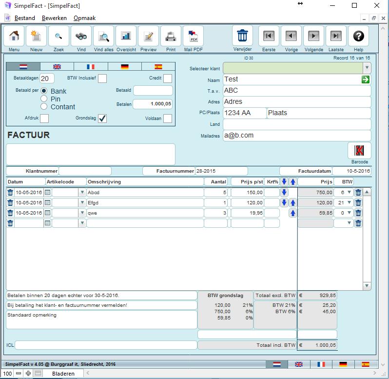 SimpelFact Factuurprogramma